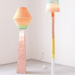 lamps, ceramic, canvas and acryl, 180 x100 x 40 cm, 2013