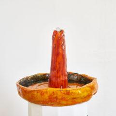 Aqua de Pau, fountain4 2017, ceramic, pump and water, 110 x 40 x 40 cm