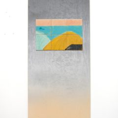 hill1, ceramic, arcylic and wood, 120 x 60 cm, 2017