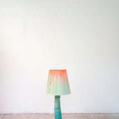 lamp 13, arcylic, canvas, light, metal and ceramic, 30 x 15 x 15 cm, 2017